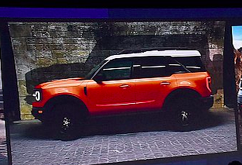 leaked image shows  ford bronco silhouette   baby bronco   ford bronco