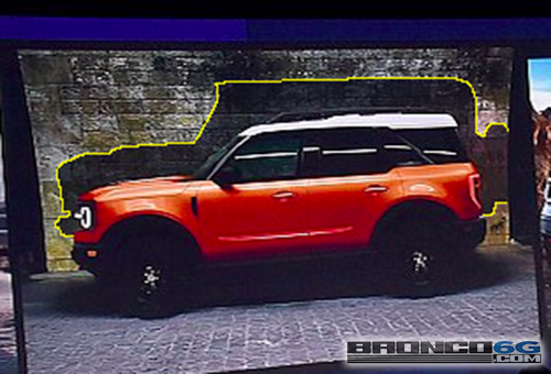 Leaked Image Shows 2020 Ford Bronco Silhouette Behind The Baby Bronco 2021 Ford Bronco Forum 6th Generation Bronco6g Com