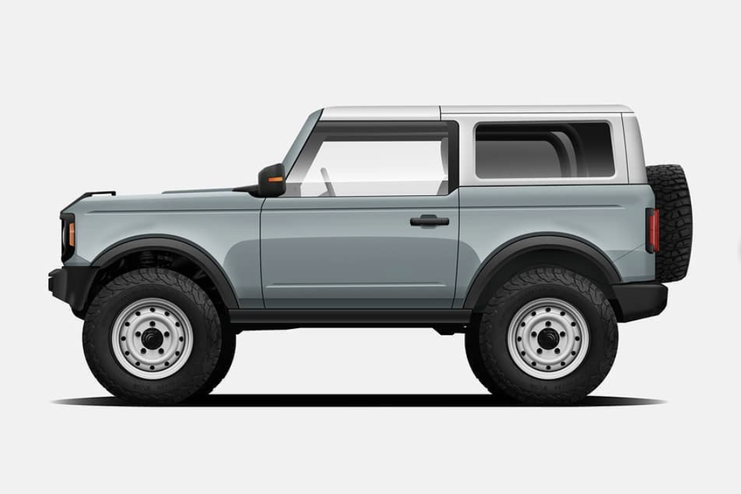 All Colors Rendered On 4 Door Bronco With White Tops Page 6