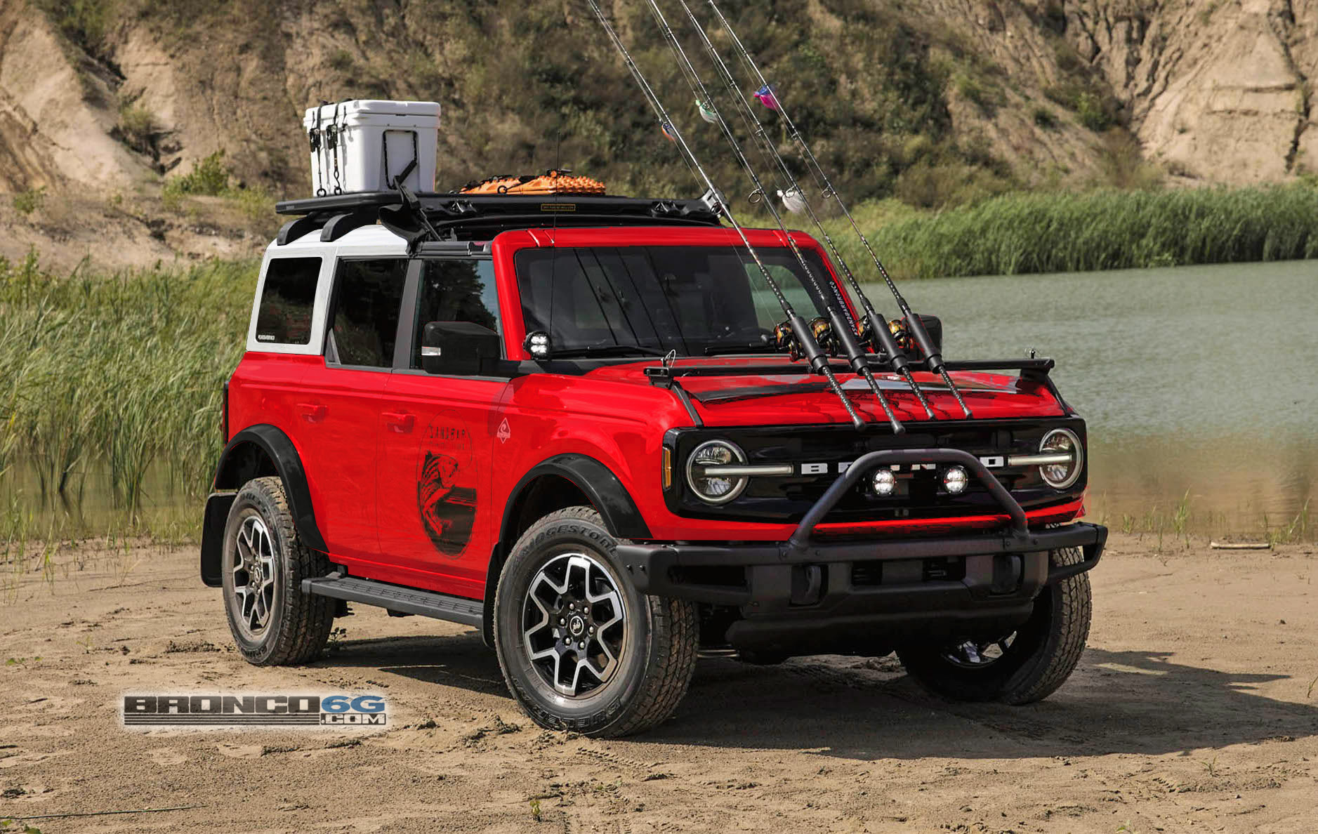 4 Door 2021 Ford Bronco Race Red White Roof.jpg