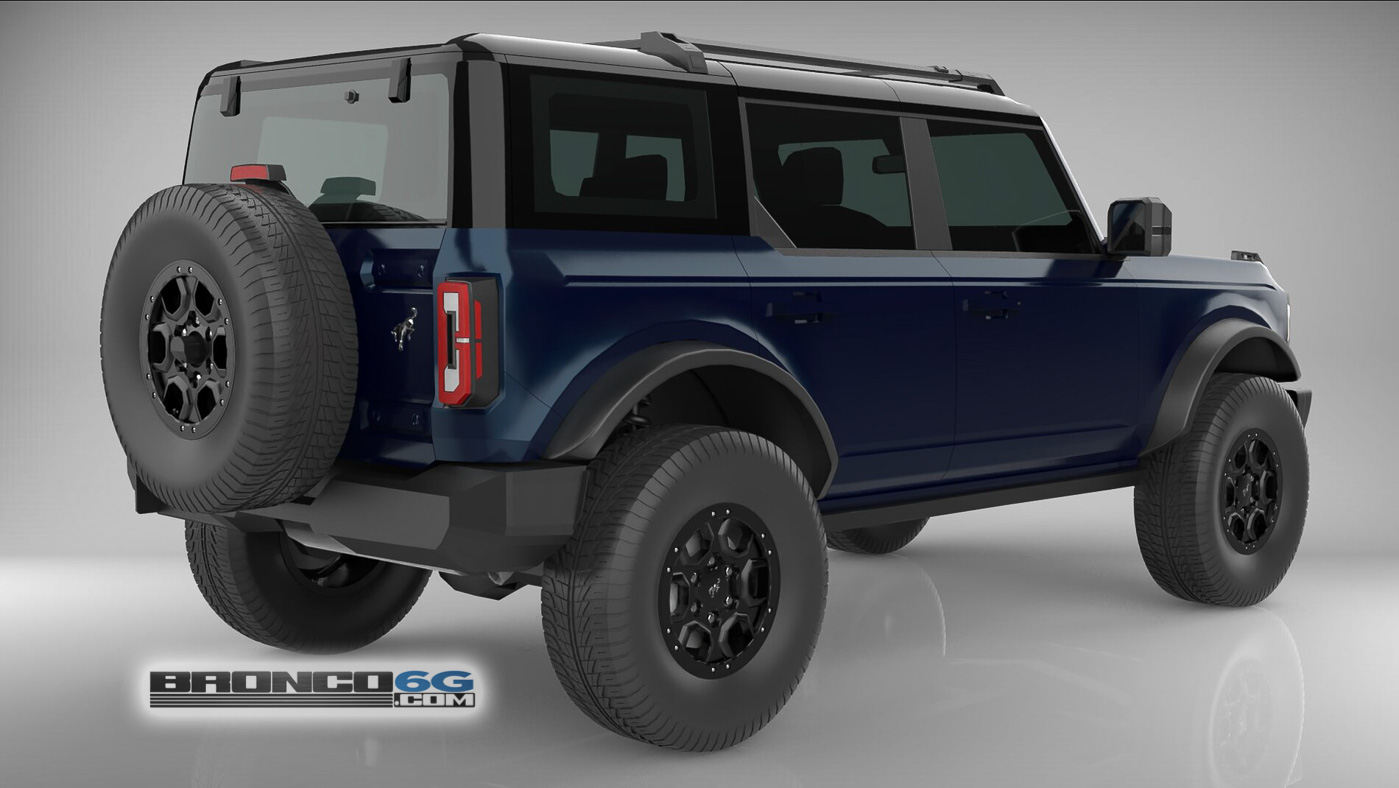 Antimatter Blue 4 Door 2021 Bronco 3D Model Rear.jpg