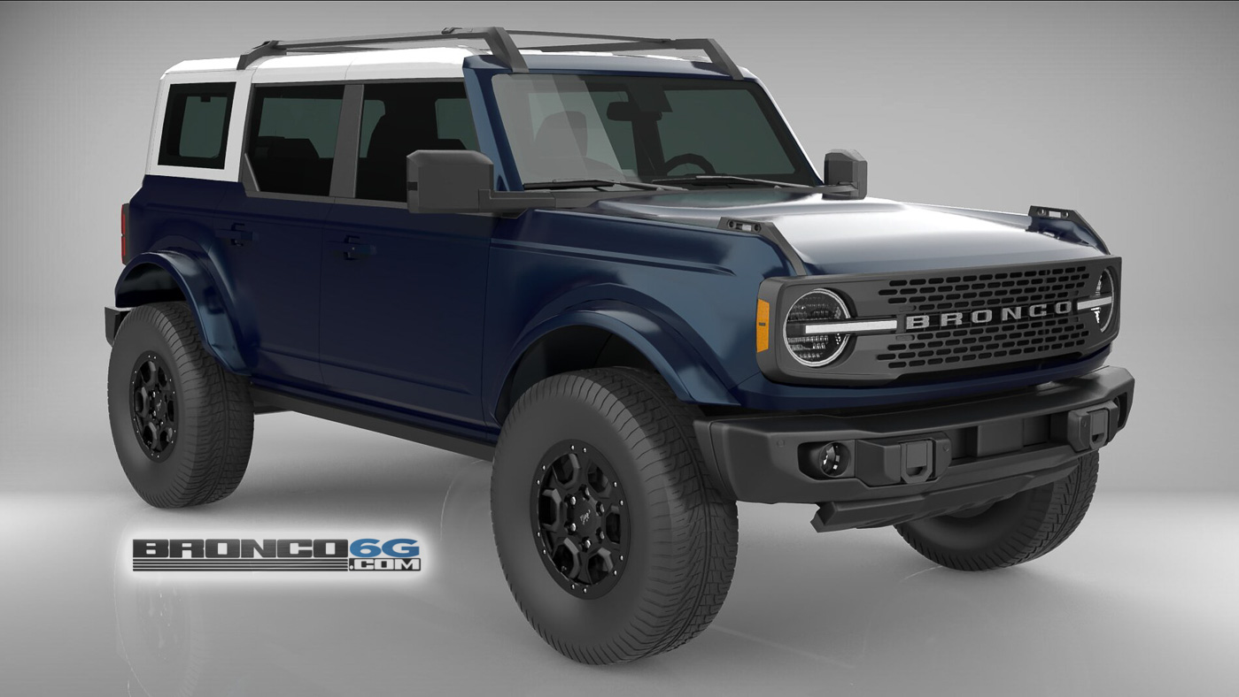 Antimatter Blue White Top Body Colored Fenders 4 Door 2021 Bronco 3D Model Front.jpg