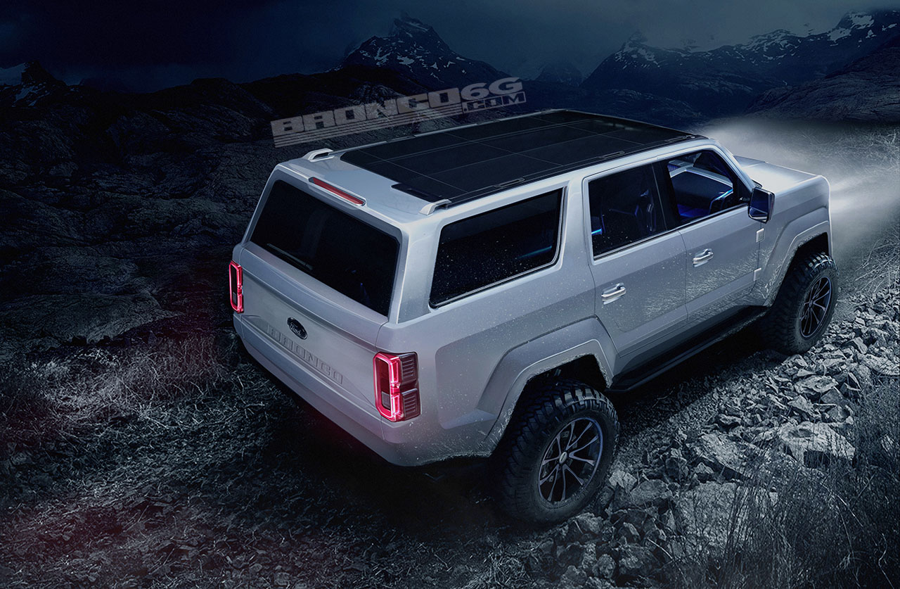 2020-2021 Ford Bronco Four-Door Concept Rendering | 2020 ...