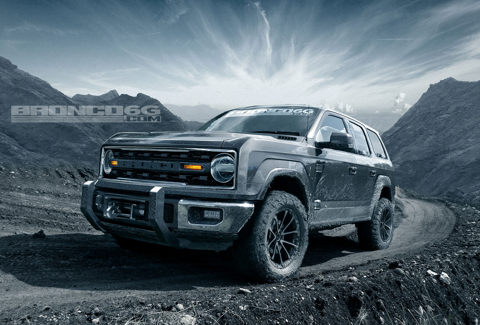 2020 2021 Ford Bronco Four Door Concept Rendering 2020