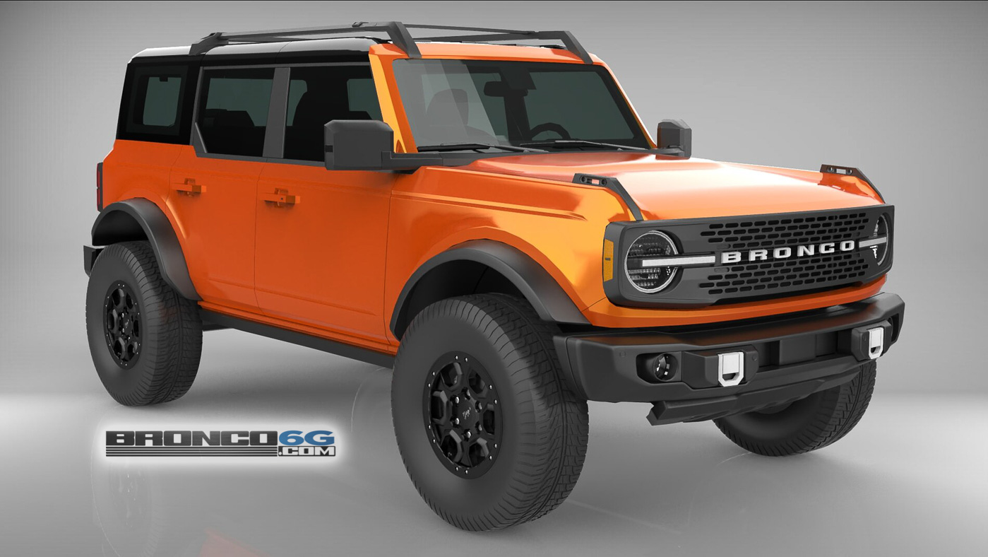 Burnt Orange 4 Door 2021 Bronco 3D Model Front.jpg