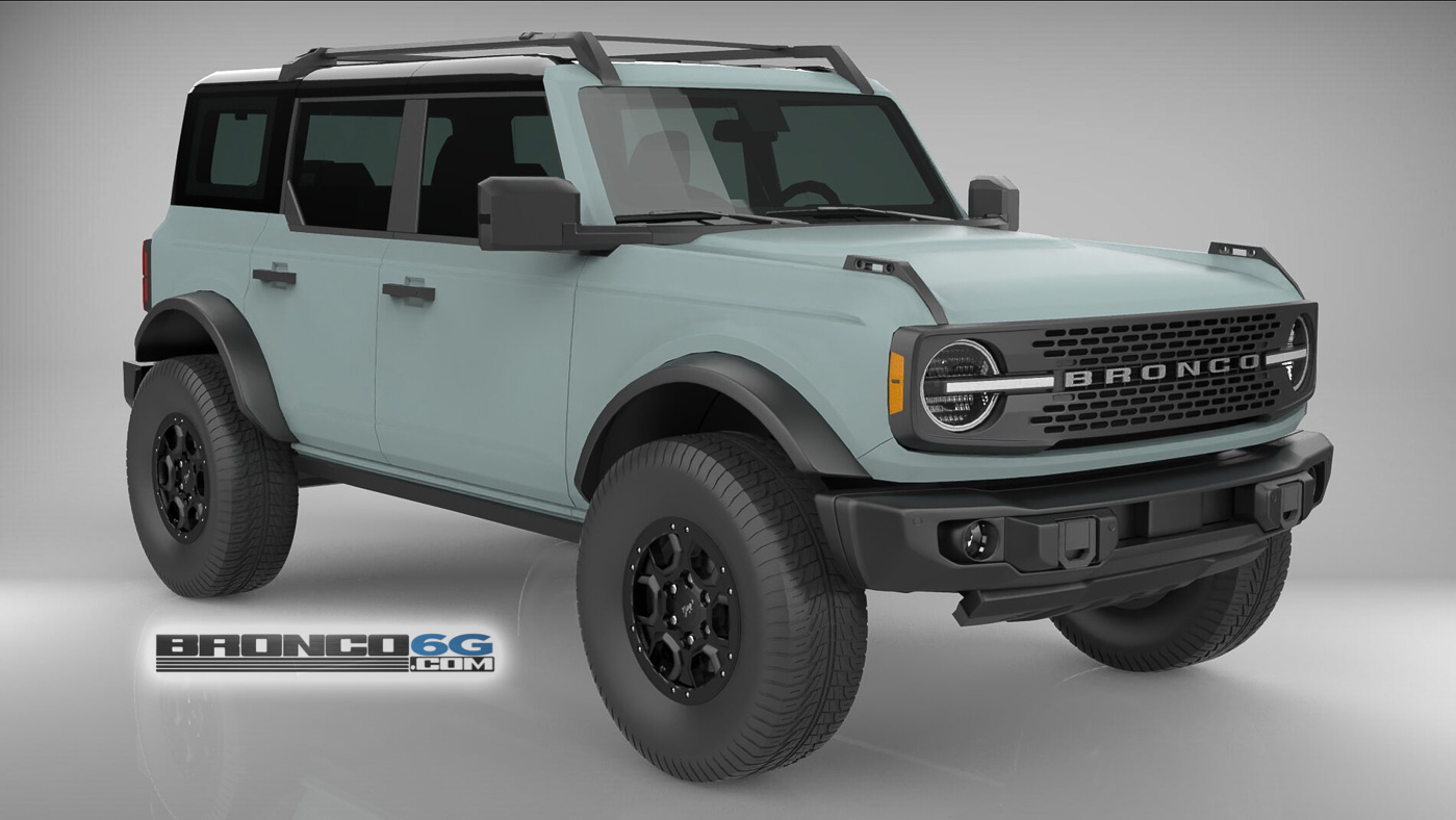 Cactus Gray Black Top Flat Satin Paint 4 Door 2021 Bronco 3D Model Front.jpg