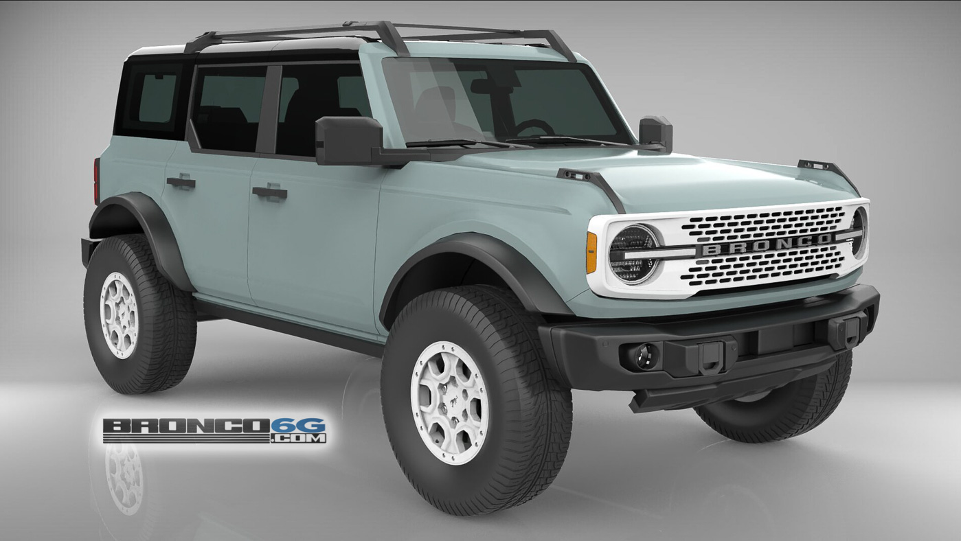 Cactus Gray White Grille Rims 4 Door 2021 Bronco 3D Model Front.jpg