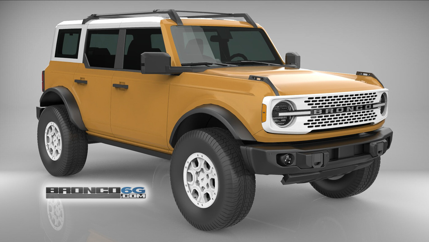 Caramel Bronze 4 Door 2021 Bronco 3D Model Front.jpg