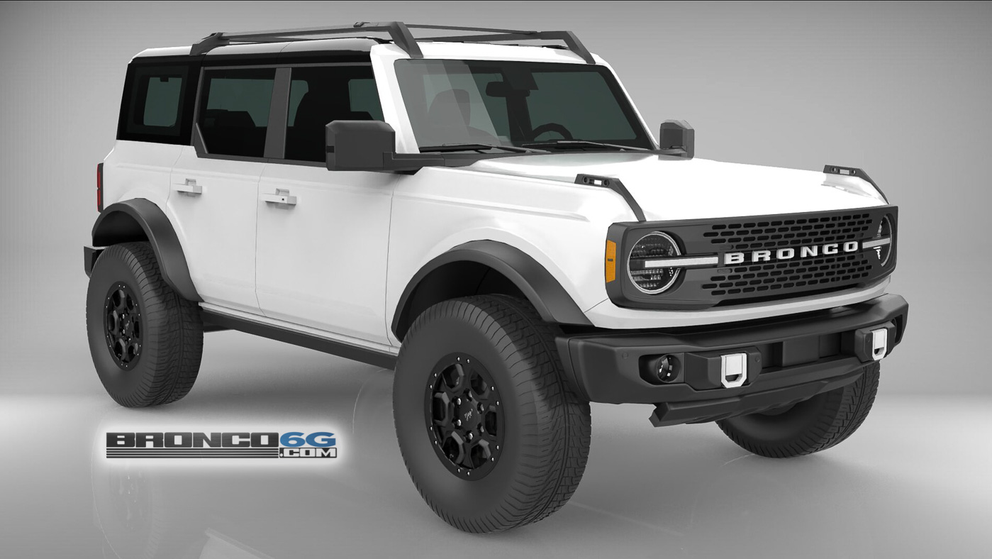 Oxford White 4 Door 2021 Bronco 3D Model Front.jpg