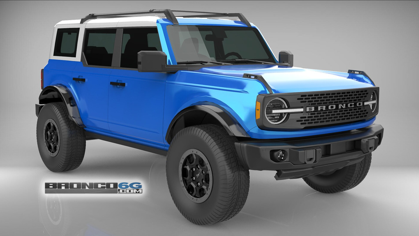 Velocity Blue White Top 4 Door 2021 Bronco 3D Model Front.jpg