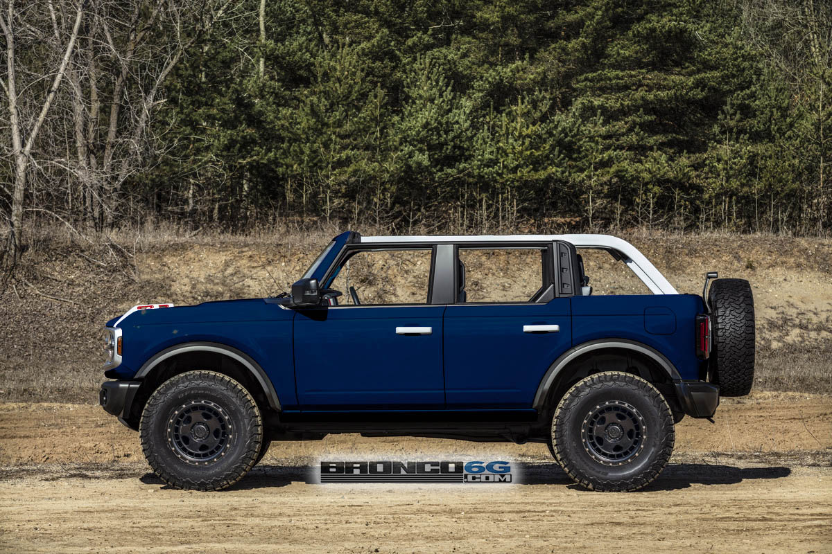All Colors Rendered on 4 Door Bronco with White Tops ...