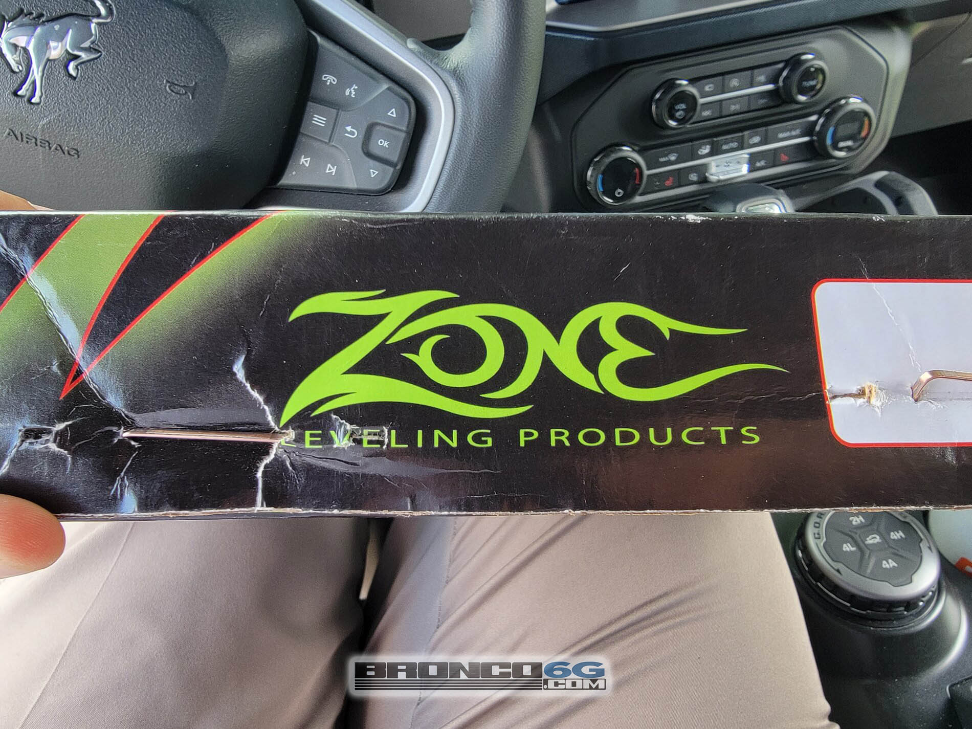 Zone Offroad 1%22 inch front leveling kit 2021 Bronco Outer Banks 1.jpg