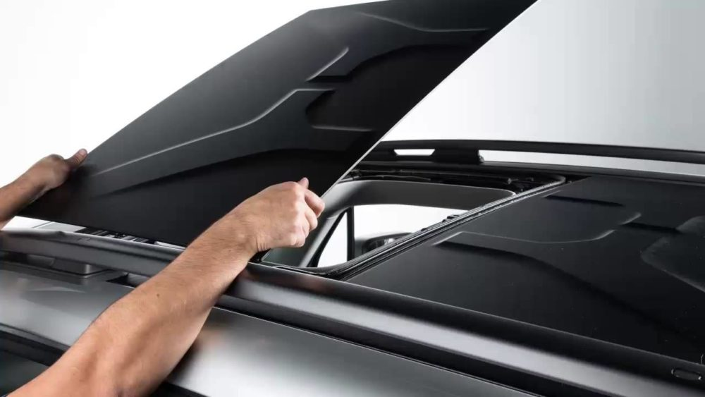 breaking air roof removable roof panels     ford bronco   ford