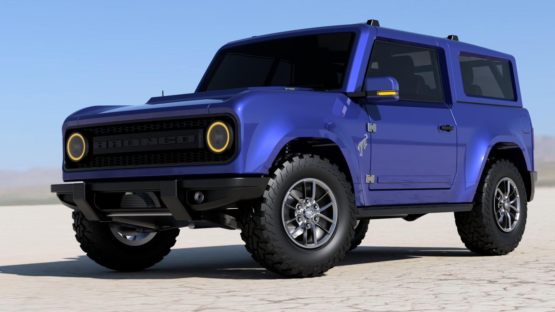 3D Model Imagines Production-Spec 2021 Ford Bronco