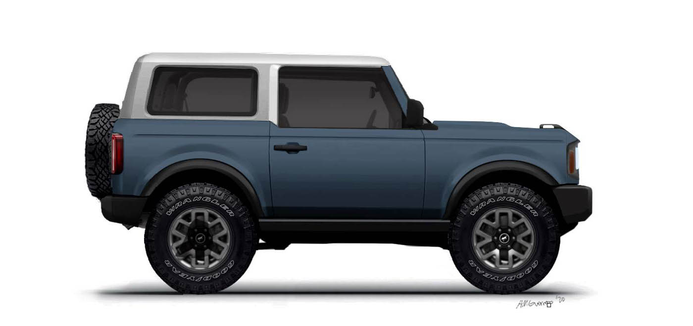 Bronco 2 Door Preview Renderings With White Top Page 4