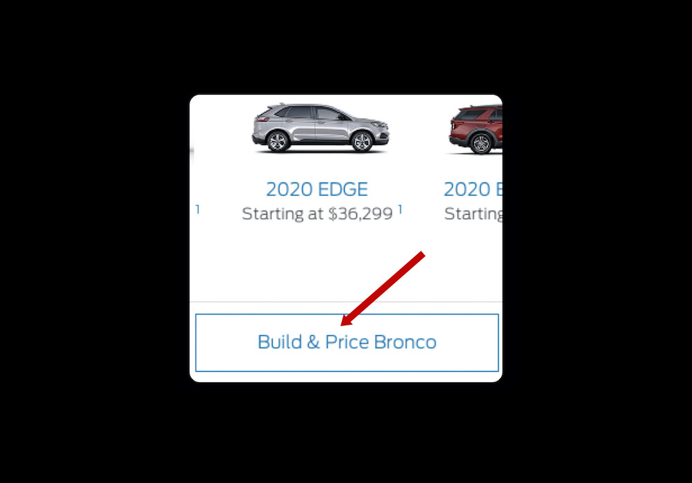 Bronco Build and Price seemingly showed up on Ford Canada ...
