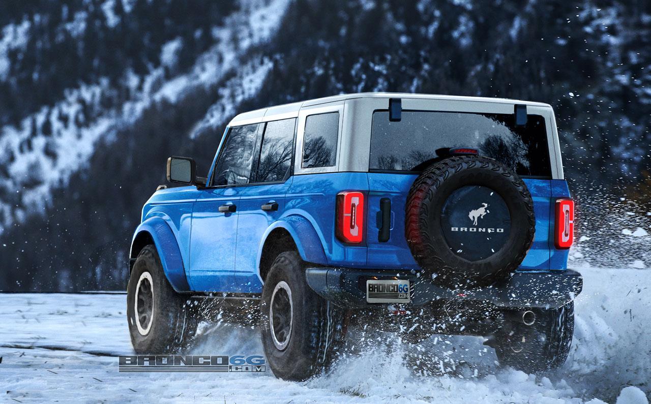 Grabber Blue 2021 Bronco 4-Door Preview Renderings   Page ...