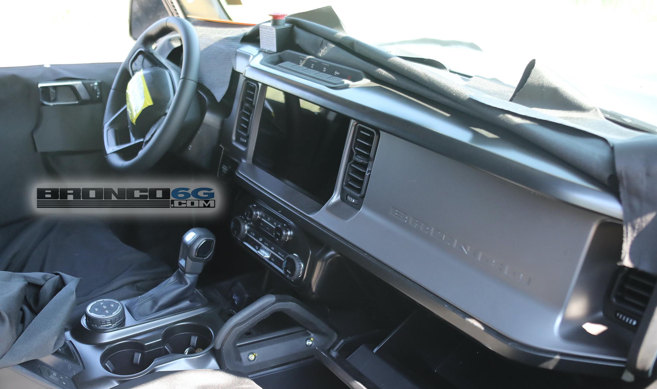 Spied: 2021 Bronco Interior Full Look @ Dash, Screen ...